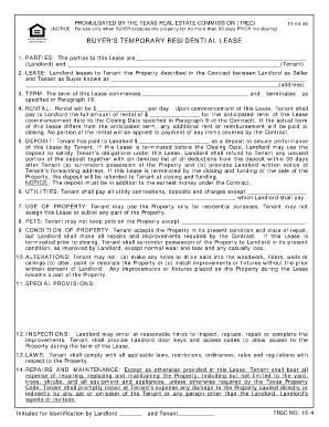 Buyers Temporary Lease Utah Fill Online Printable