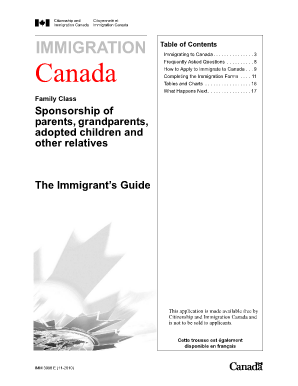 Application For Permanent Residence In Canada Form Imm 0008 Generic on