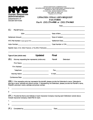 Final Lien Request - Fill Online, Printable, Fillable, Blank ...