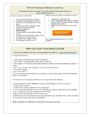 Army accident avoidance course form fill online printable fillable