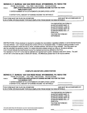 Berks E I T Tax - Fill Online, Printable, Fillable, Blank | PDFfiller