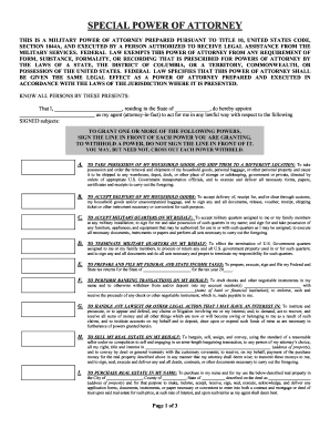 marine corps power of attorney form