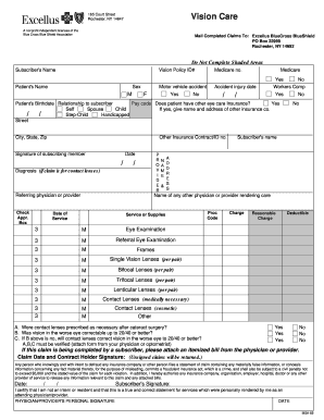 24 Printable blue cross blue shield vision reimbursement ...