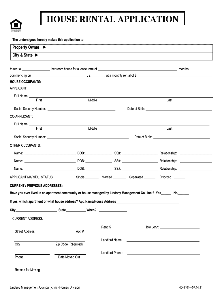 House Aplication Fill Online Printable Fillable Blank