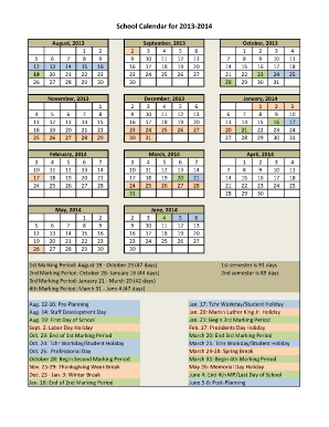 2013 14 fillable calendar form