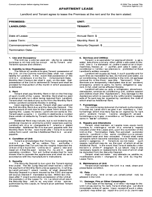 judicial title apartment lease form