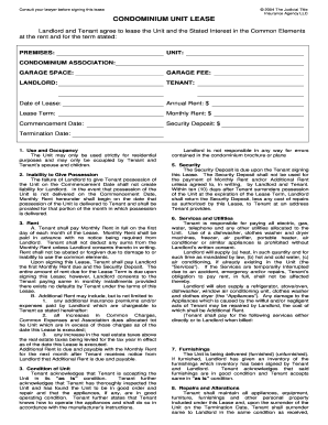 Condominium Lease Agreement Forms And Templates Fillable - Condo rental agreement template