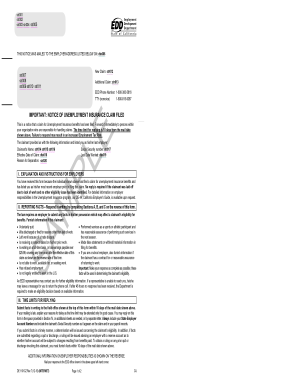 Fillable Online 134 187 115 Notice Of Unemployment Insurance Claim Filed De 1101cz 134 187 115 Fax Email Print Pdffiller