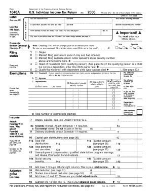 Printable 1040a tax form - Fill Out & Download Top Gov Forms in ...
