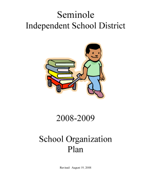 2008 2009 Organization Chart - Seminole Independent School District
