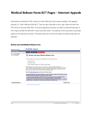 ssa form 827 Templates - Fillable & Printable Samples for PDF ...