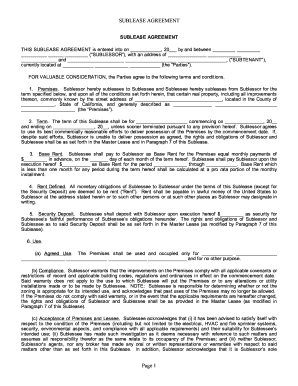 sublet documents ca form