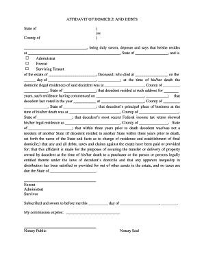 Affidavit of domicile forms and templates fillable printable what is affidavit of domicile form altavistaventures Image collections