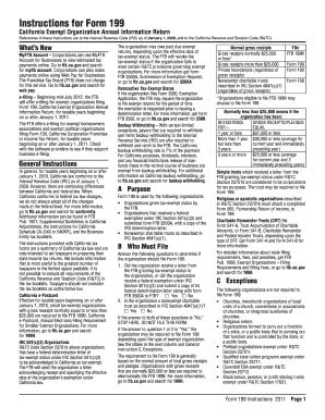 2011 Form CA FTB 199 Instructions Fill Online, Printable, Fillable ...