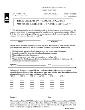 Fillable st paul smoke detector requirements Samples to
