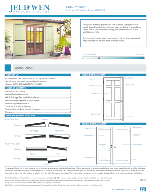 Fillable Online PRODUCT GUIDE Interior & Exterior Doors