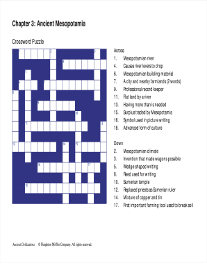 Chapter 3 Ancient Mesopotamia Crossword Puzzle Answer Key