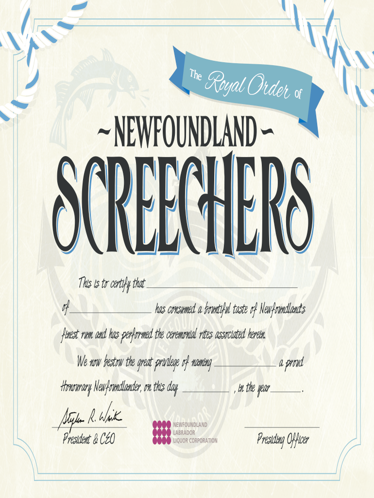 Screech In Certificate Printable 21-21 - Fill and Sign With Regard To Cpr Card Template