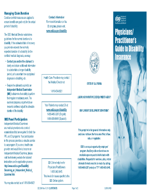 Edd Disability Extension Form Pdf - Fill Online, Printable ...