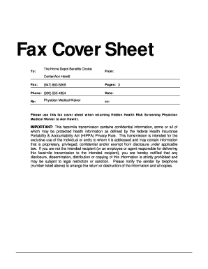 confidential fax cover sheet examples form