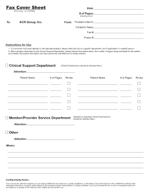 acn group inc fax number fill online printable fillable blank