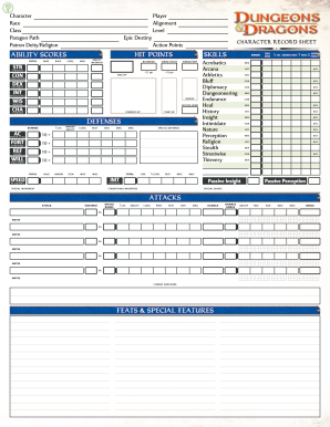 photo regarding Dungeons and Dragons Printable Character Sheet called Sort Fillable Pdf Include 2e - Fill On the net, Printable, Fillable