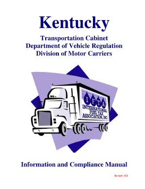 Ky Transportation Cabinet Division Of Motor Carriers Mf
