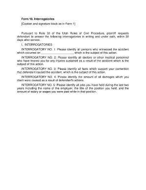 Sample Interrogatories Declaratory Judgment - Fill Online ...