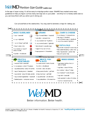 webmd portion size guide form
