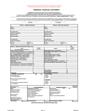 t.d.bank personal financial statement form