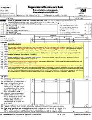 1041 schedule e instructions | download pdf