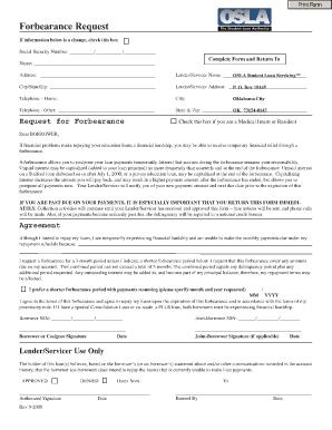 Osla Fax Number Form