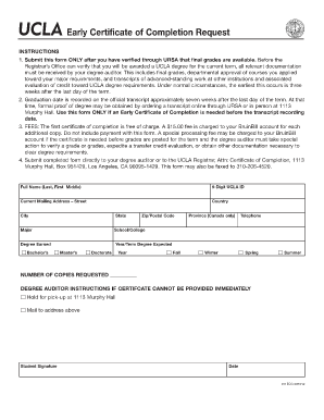 ucla certificate of completion form