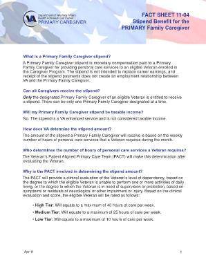 Va Caregiver Stipend - Fill Online, Printable, Fillable, Blank ...