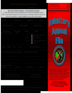 Vaf Application Form - Fill Online, Printable, Fillable, Blank ...