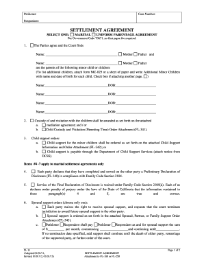 marriage agreement paper form