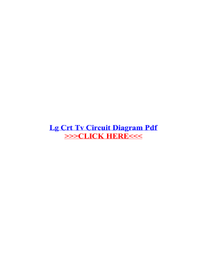 Lg Crt Tv Circuit Diagram Free Download - Fill Online, Printable