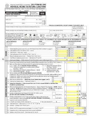 Missouri 1040 fillable calculation 2012 form