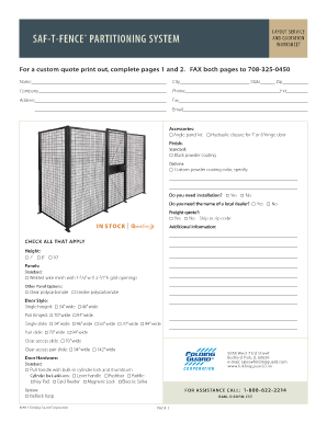 fence estimate template fill online printable fillable blank