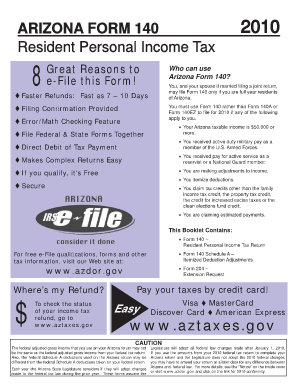 Why Use Ariz Form 140 A - Fill Online, Printable, Fillable, Blank ...