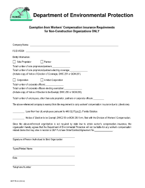 Sole Proprietor Waiver Of Workers Compensation Fillable - Fill ...