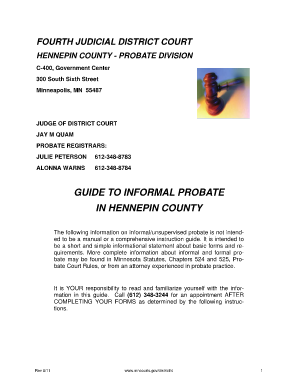 hennepin county application for informal probate