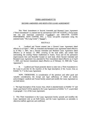 Amended and restated agreement recitals edit online fill out lease agreement third amendment to second amended and platinumwayz