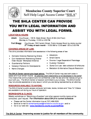 Fillable Online Mendocino Courts Ca Mendocino County Superior Court - Help with legal forms