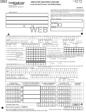 Berkheimer Online - Fill Online, Printable, Fillable, Blank ...