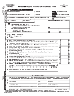 2012 Arizona Form - Fill Online, Printable, Fillable, Blank ...