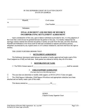Divorce Final Judgement Image - Fill Online, Printable
