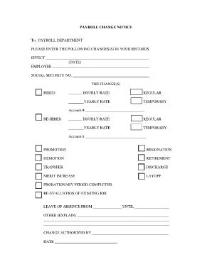 Fillable Online etbu PAYROLL CHANGE NOTICE - ETBU - etbu Fax Email ...