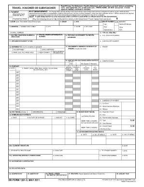 Fillable Online msc navy DD Form 1351-2, Travel Voucher or ...