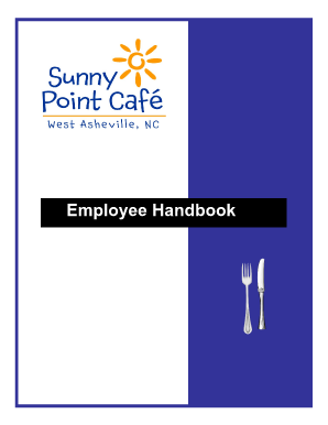 sunny point cafe employee handbook form